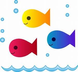 Cute School of Fish Swimming - Free Clip Art