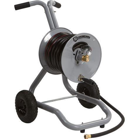 garden hose reels strongway garden hose reel cart holds 5 8in x 150ft