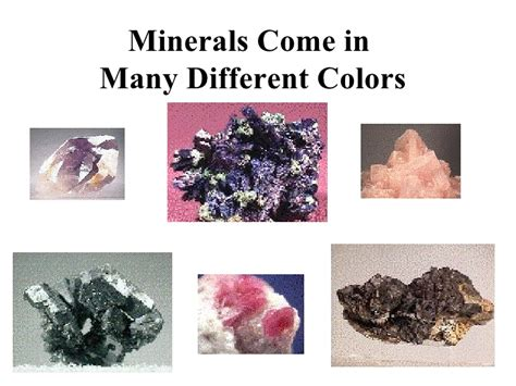 properties of color physical properties of minerals