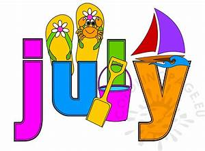 Summer Month July image | Coloring Page