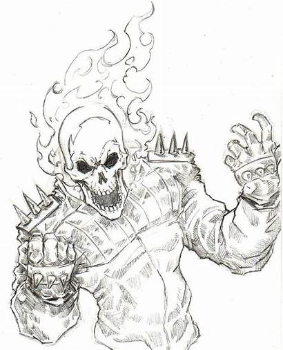 Rider Ghost Coloring Pages Cool Drawing Drawings