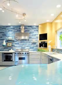 light blue kitchen backsplash custom kitchen backsplash designs decobizz