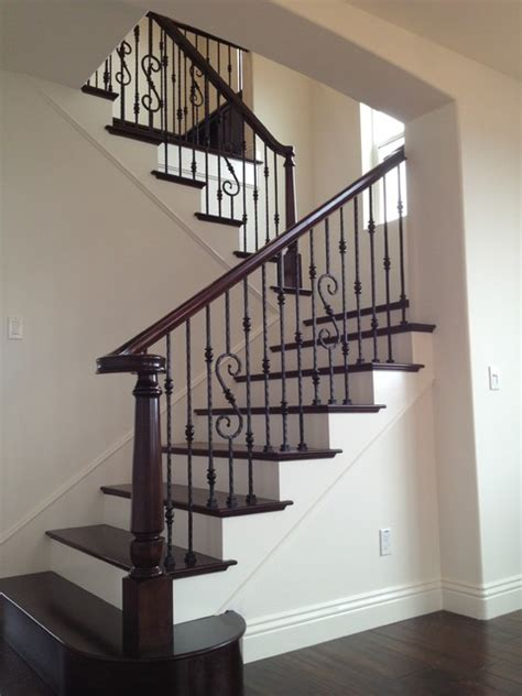 wood iron mediterranean staircase san diego by beach city stairs