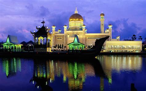 sultan omar ali saifuddin mosque   beautiful