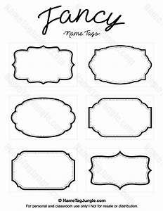 free printable fancy name tags the template can also be With nameplate template free