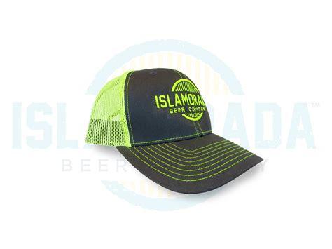 ibc logo neon trucker hats islamorada beer company