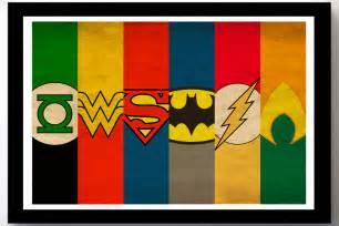Justice League Superhero Logos