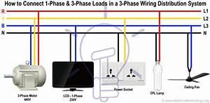 Single Phase 3 Wire Diagram Single Phase Starter Wiring