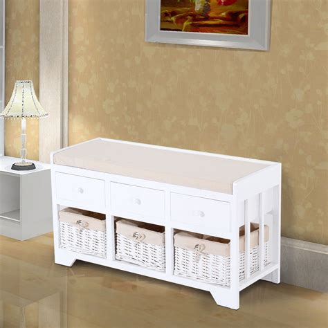 White Hallway Bench Seat — Stabbedinback Foyer  For Using