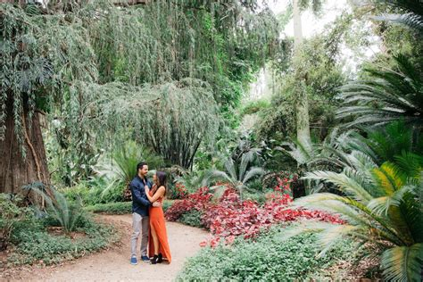 vibrant botanical garden engagement with chelsea and
