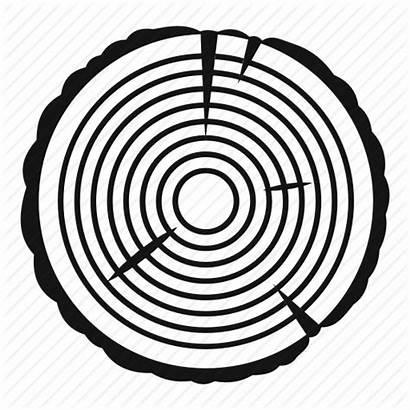 Icon Wood Trunk Timber Tree Circle Ring