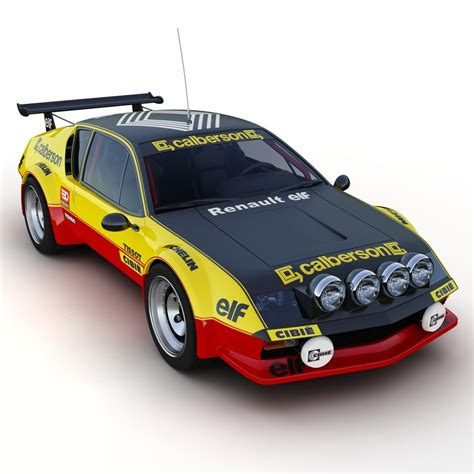 renault alpine a310 rally renault alpine a310 3d model