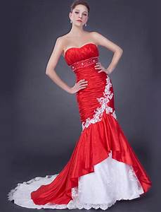 Boutique romantica fantezie boutique bridal red wedding for Wedding dress red