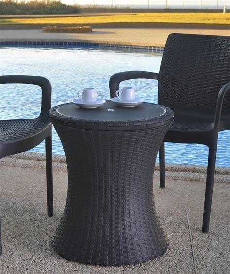 patio bar table cooler keter rattan cool bar outdoor patio cooler table patio table