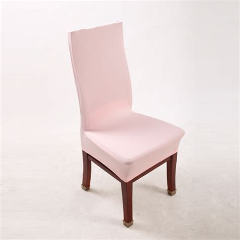 pink polyester spandex dining chair covers for wedding