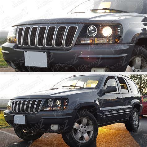 jeep headlights halo limited sinister black 1999 2004 jeep grand cherokee wj