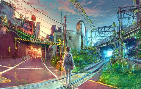 Anime Wallpaper Japan by Wallpaper Japan Cityscape Anime Road Town