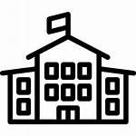 Icon Building Svg Vector Flag Teacher Elementary
