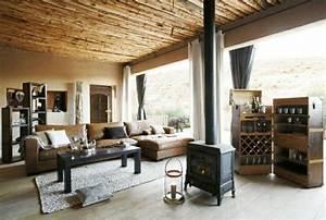 le canape d39angle en cuir 60 idees d39amenagement With tapis chambre bébé avec canapé d angle cuir et bois rustique