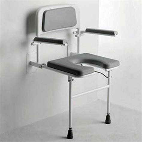 padded wall mounted shower seat with arms horseshoe