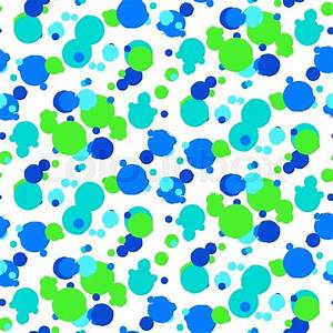 Ditsy vector polka dot pattern with random hand painted ...