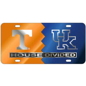 TENNESSEE VOLS / KENTUCKY WILDCAT Mirrored HOUSE DIVIDED ...