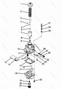 Polaris Atv 1994 Oem Parts Diagram For Carburetor 4x4 400l