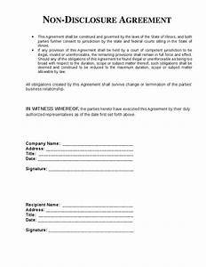 non disclosure agreement template cyberuse With basic nda template