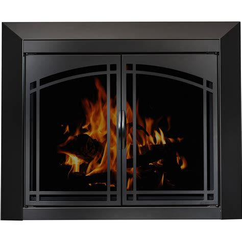 Arched Plate Masonry Fireplace Glass Doors, Manassa Doors