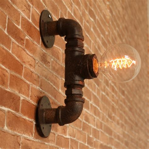 industrial wall pipe l retro wall light rustic vintage wall sconce light ebay