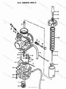 Suzuki Motorcycle 1978 Oem Parts Diagram For Carburetor  Rm80c