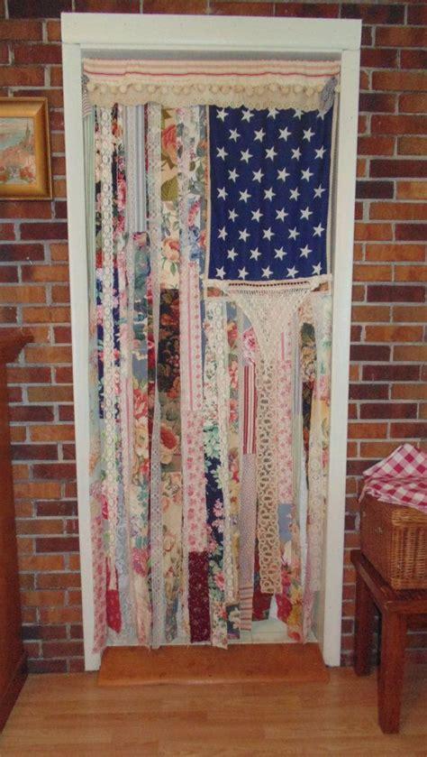 shabby chic american flag door curtain wall decor large