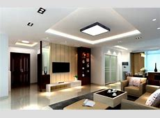 Pop Ceiling Decoration In Living Room With Simple Designs
