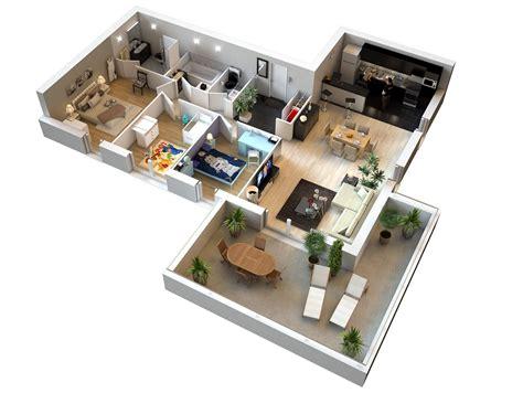 plan maison 100m2 plein pied 3 chambres plans 3d d appartements studios maisons plus immo