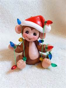monkey christmas ornament christmas lights personalized