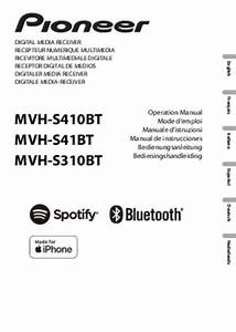 Notice Pioneer Mvh-s410bt