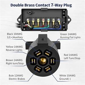 Kohree 7 Way Trailer Plug Cord Trailer Connector Cable