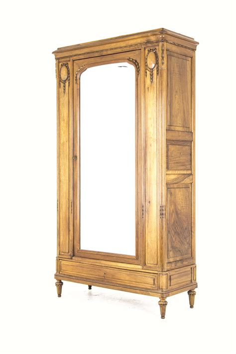 Single Door Wardrobe Closet by B626 Antique Walnut Single Door Armoire Wardrobe