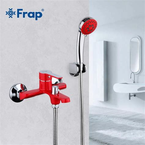 Bathroom Shower And Sink Faucet Sets by Buy Frap Bathroom Shower Brass Chrome Wall Mounted