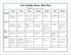 trim healthy mama weekly food log template perfectly produce free 7 day meal planning template my