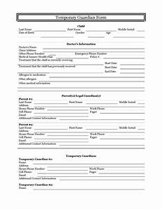 zhorapankratov7 temporary guardianship form download With temporary will template