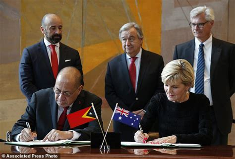 Australia And East Timor Sign Maritime Border Treaty