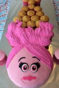 Poppy Cupcake Cake Princess Trolls