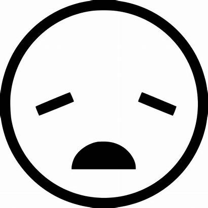 Tired Icon Emoticon Boring Face Svg Icons