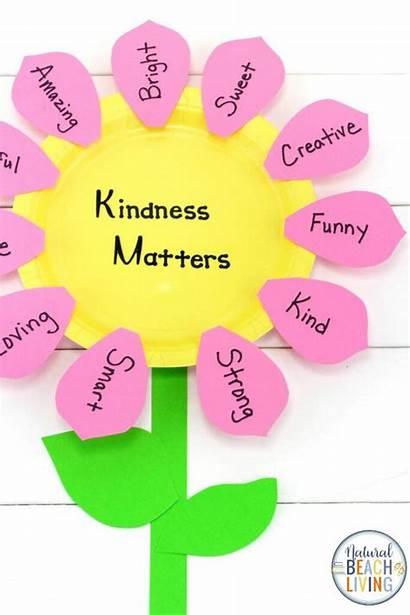 Kindness Craft Flower Kindergarten Preschoolers Crafts Preschool