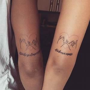 Tatouage Couple Original : tatouage meilleure amie dessin teuk ~ Melissatoandfro.com Idées de Décoration