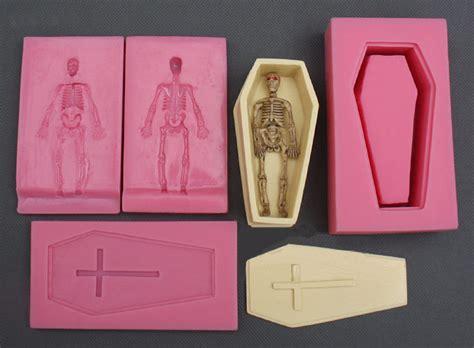 halloween cake decorating mold  set coffin human skeleton