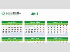 Plantillas calendario en Excel 2018 Ayuda Excel