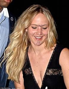 Jennifer Black Friday : jennifer lawrence sports a moustache goatee and unibrow scrawled on her face daily mail online ~ Medecine-chirurgie-esthetiques.com Avis de Voitures
