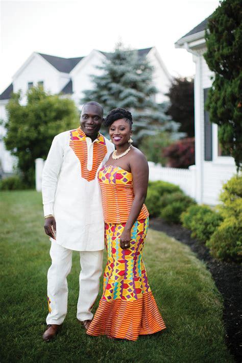 ghanaian wedding  massachussetts  kente theme claudette jerry munaluchi bride